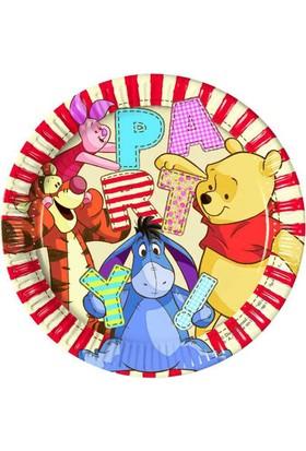 Tahtakale Toptancısı Winnie The Pooh Temalı Karton Tabak 23 CM (8 Adet)