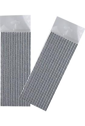 Tahtakale Toptancısı Gümüş Renkli Kağıt Pipet (25 Adet)