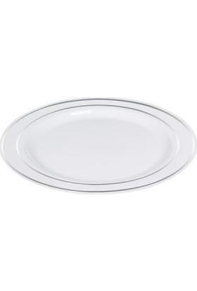 Partici Porselen Görünümlü Plastik Tabak 19 cm
