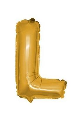 Partici L Harf Folyo Balon Altın 100 cm