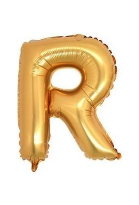 Partici R Harf Folyo Balon Altın 100 cm