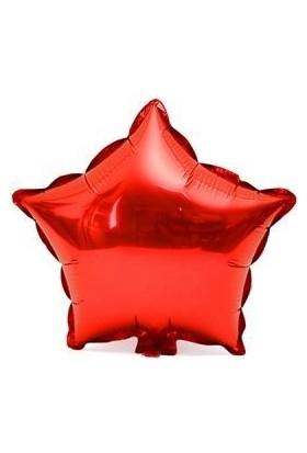 Partici Kırmızı Yıldız Folyo Balon 60 cm