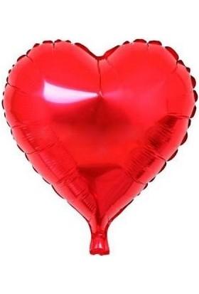 Partici Kırmızı Kalp Folyo Balon 60 cm