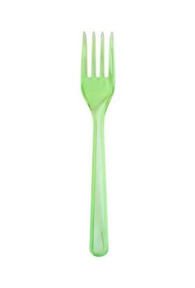 Partici Yeşil Transparan Plastik Çatal