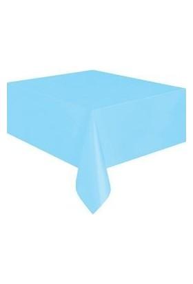 Partici Açık Mavi Plastik Masa Örtüsü