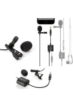 Ik Multimedia İrig Mic Lav 2 Pack Lavalier Lapel Clip - On Mikrofon (İos & Android). 2'Li Paket