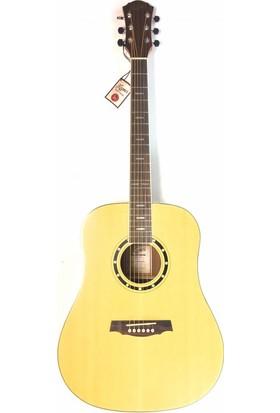 Kozmos Kda - 30Ce Nat Elektro Akustik Gitar Kılıf + Askı + Ara Kablo