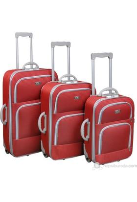 Albatros Üçlü Valiz Seti Kırmızı