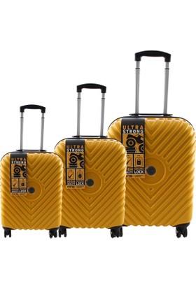 ÇÇS 5168 Valiz Seti Sarı