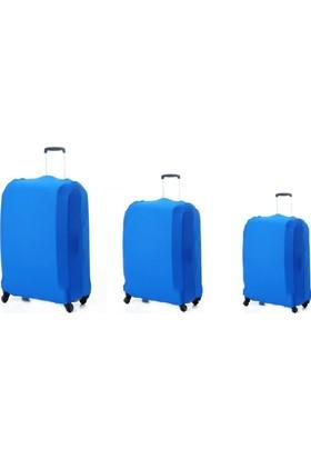 VK Tasarım Valiz Kılıfı Set Mavi Unisex Valiz Kılıfı
