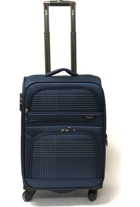 Baggaj Lüx Kumaş Valiz Lacivert Kabin Boy - 55 Cm