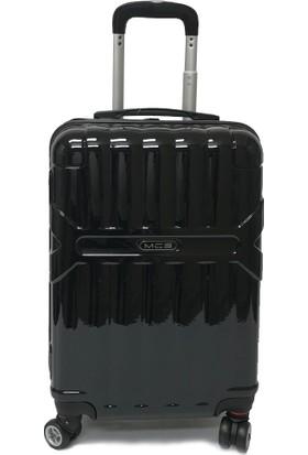 MÇS Pc Kırılmaz Valiz Siyah Kabin Boy - 55 Cm