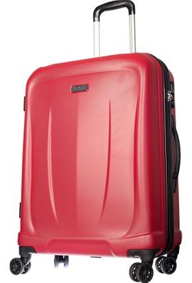 Pierre Cardin Polycarbonate Pc3500 Orta Boy Valiz Kırmızı