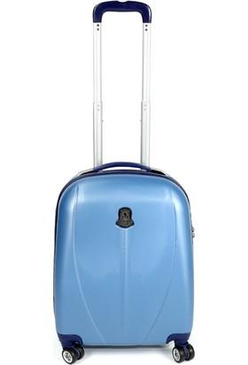 Ussaro 00210 Abs Küçük Boy Körüklü Valiz Mavi