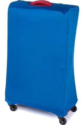 VK Tasarım Valiz Kılıfı Büyük Boy Mavi Unisex Valiz Kılıfı