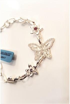 Tyelo Takı, 925 Ayar Gümüş, Taşlı Ve El Yapımı Kelebek Bileklik