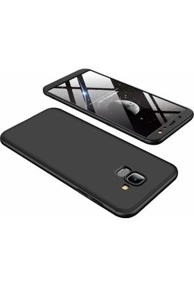 Case 4U Samsung Galaxy A6 Kılıf (2018) 360 Derece Korumalı Tam Kapatan Koruyucu Sert Arka Kapak - Ays - Siyah