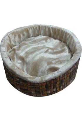 Tarçın Yumuşak Kedi & Küçük ırk Köpek Yatağı