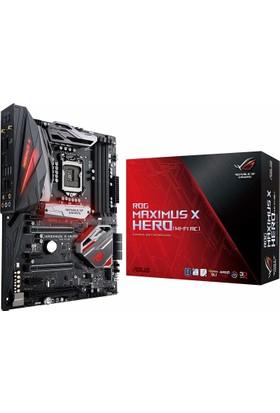 Asus MAXIMUS X HERO Intel Z370 2133MHz DDR4 Socket 1151 USB 3.0 ATX Anakart