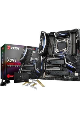 MSI X299 Gaming PRO CARBON AC Intel X299 Soket 2066 DDR4 4266+(O.C) Mhz Anakart
