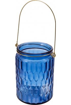 Karaca İndigo Fener 13x8 cm Mavi