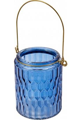 Karaca İndigo Fener Küçük 9x9 cm Mavi