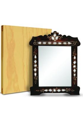Promata Sedef Ayna Ahşap Kutuda
