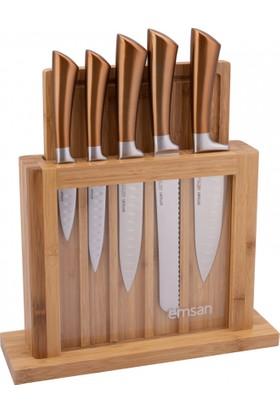 Emsan Bıçak Matriks Rose Gold 7 Parça Bıçak Seti