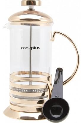 Cookplus Coffee Bean French Press Bronze Linear 350 Ml