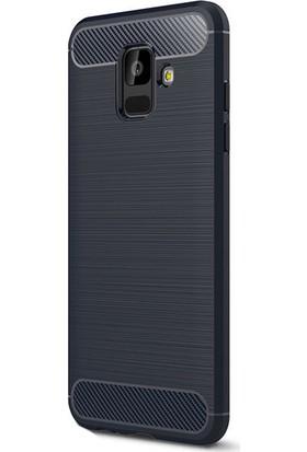 KNY Samsung Galaxy A6 Plus 2018 Kılıf Ultra Korumalı Room Silikon + Cam Ekran Koruyucu
