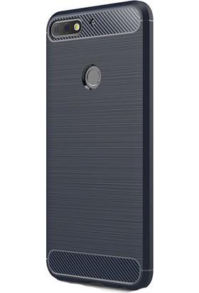 KNY Huawei Y7 2018 Kılıf Ultra Korumalı Room Silikon + Cam Ekran Koruyucu