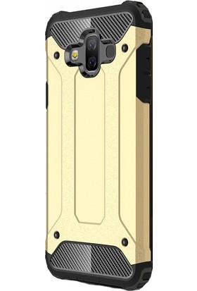 KNY Samsung Galaxy J7 Duo Kılıf Çift Katmanlı Armour Case + Cam Ekran Koruyucu