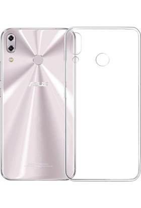 KNY Asus Zenfone 5 ZE620KL Kılıf Ultra İnce Şeffaf Silikon + Nano Cam Ekran Koruyucu