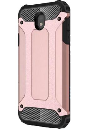 KNY Samsung Galaxy J330 J3 Pro Kılıf Çift Katmanlı Armour Case + Nano Cam Ekran Koruyucu