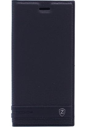 KNY Samsung Galaxy A6 Plus 2018 Kılıf Gizli Mıknatıslı Kapaklı + Nano Cam Ekran Koruyucu