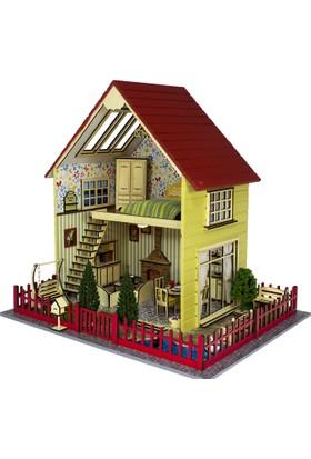 Hande's House Ahşap Oyun Evi - Mobilyalı Ve Işıklı