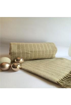 Mella Home Wool Battaniye-Krem-Bej
