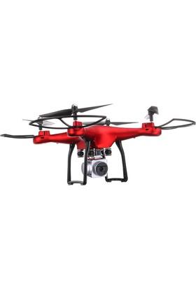 YL Kameralı Wifi Drone Kırmızı