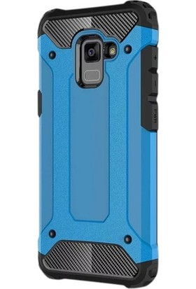 Ehr. Samsung A7 2018 Çift Katmanlı Darbe Emici Crash Kılıf + Ekran Koruyucu Cam