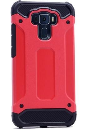 Ehr. Asus Zenfone 3 Max ZC553KL Çift Katmanlı Crash Kılıf + Ekran Koruyucu Cam