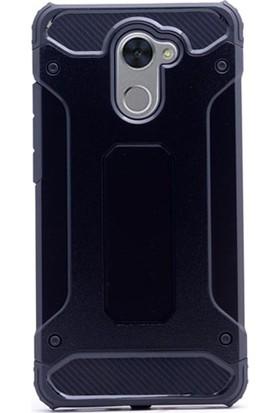 Ehr. Huawei Y7 Prime Çift Katmanlı Darbe Emici Crash Kılıf + Nano Glass Cam
