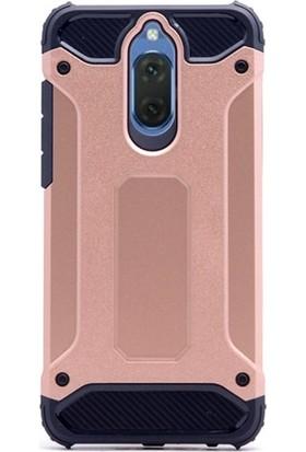 Ehr. Huawei Mate 10 Çift Katmanlı Darbe Emici Crash Kılıf + Ekran Koruyucu Cam