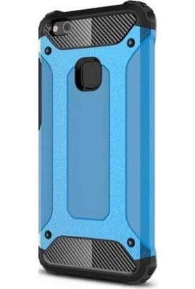 Ehr. Huawei P10 Çift Katmanlı Darbe Emici Crash Kılıf + Nano Glass Cam