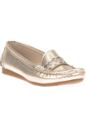 Ziya Kadın Hakiki Deri Ayakkabı 81493 Rok Altın