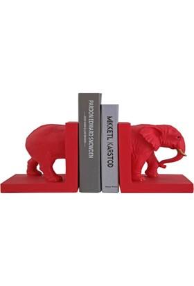 Giftpoint Gp-1881 Fil Kitap Desteği Kırmızı
