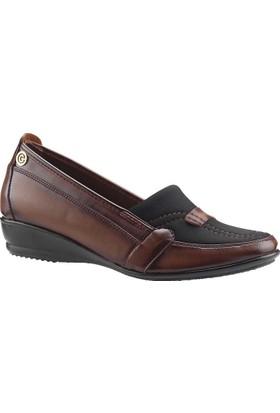 Ayakland 104 Kahverengi Kadın Ayakkabı