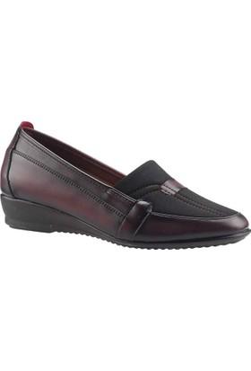 Ayakland 104 Bordo Kadın Ayakkabı
