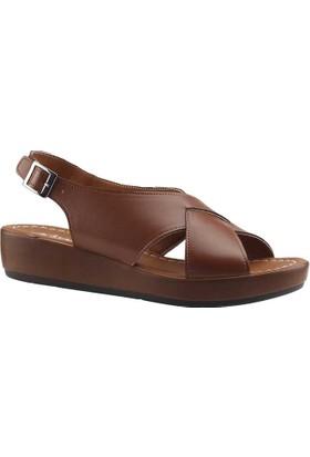 Ayakdas 1033 Taba Kadın Sandalet