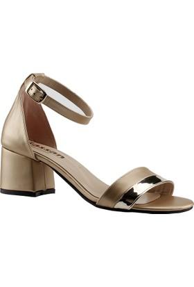 Ayakland 4 Altın Kadın Sandalet