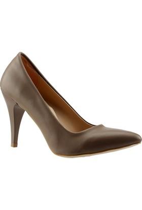 Paddy 2535 Vizon Stiletto Kadın Ayakkabı